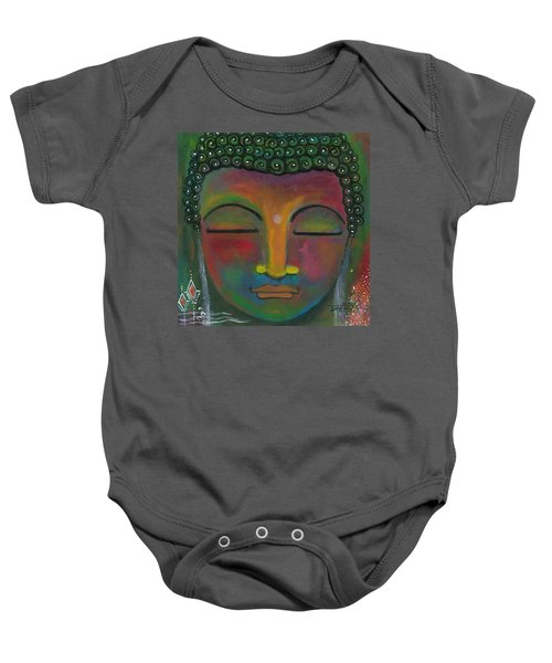 Baby Onesie featuring the painting Buddha Painting by Prerna Poojara