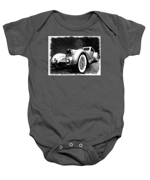 Bugatti Type 57 Aerolithe Baby Onesie