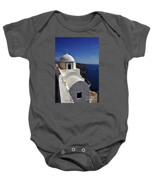 Building In Fira Baby Onesie