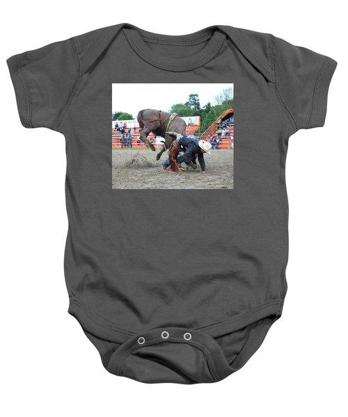 Bull Riding Action Baby Onesie