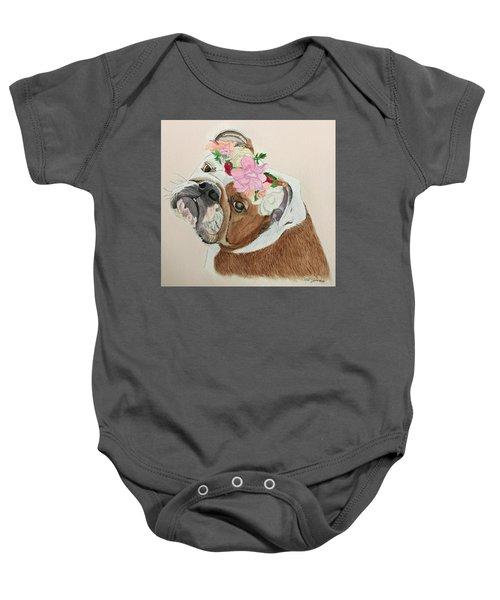 Bulldog Bridesmaid Baby Onesie