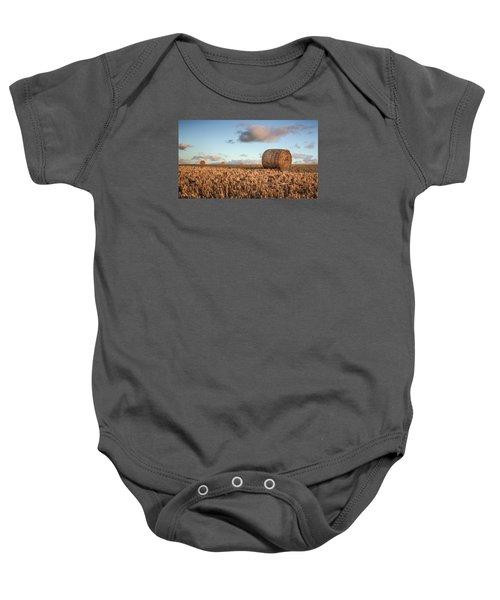 Bundy Hay Bales #7 Baby Onesie