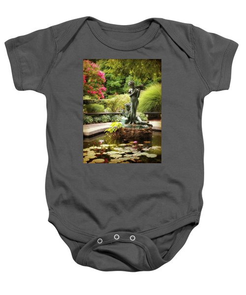 Burnett Fountain Garden Baby Onesie
