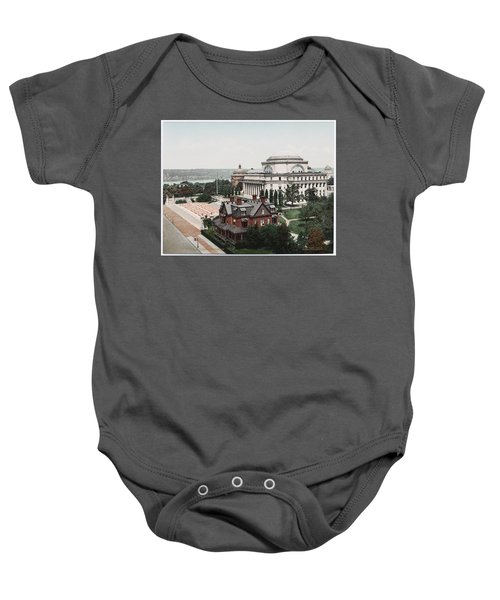 Butler Library At Columbia University Baby Onesie