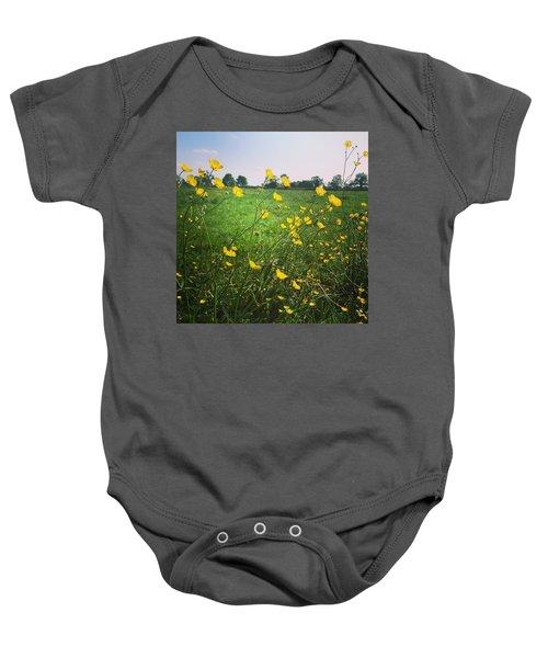 Buttercups Meadow Baby Onesie