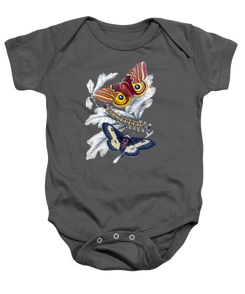 Butterfly Moth T Shirt Design Baby Onesie by Bellesouth Studio