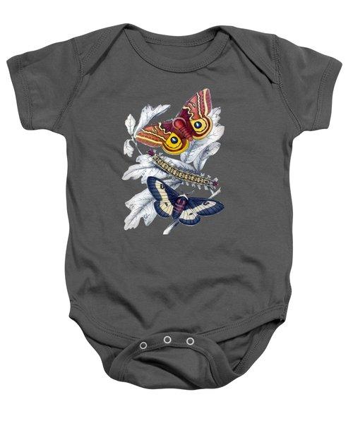 Butterfly Moth T Shirt Design Baby Onesie