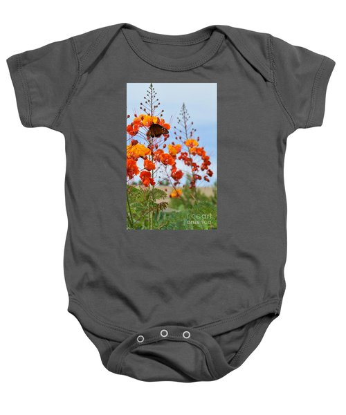 Butterfly On Bird Of Paradise Baby Onesie