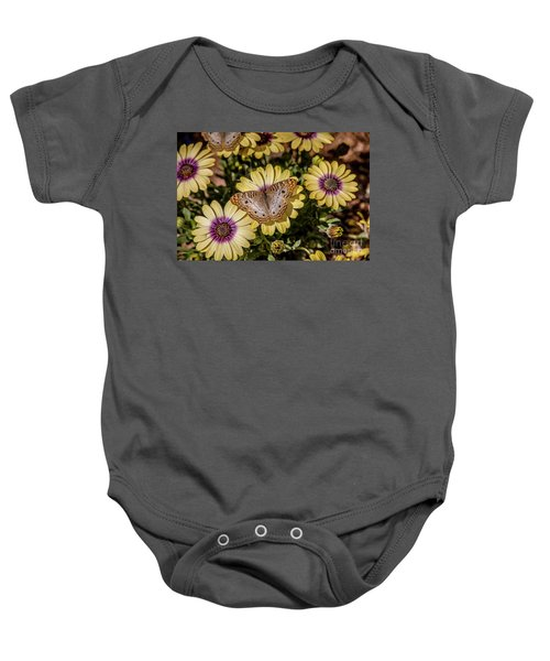 Butterfly On Blossoms Baby Onesie