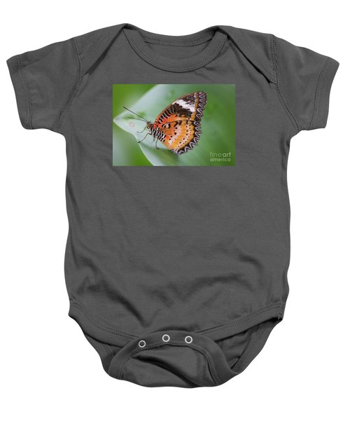 Butterfly On The Edge Of Leaf Baby Onesie