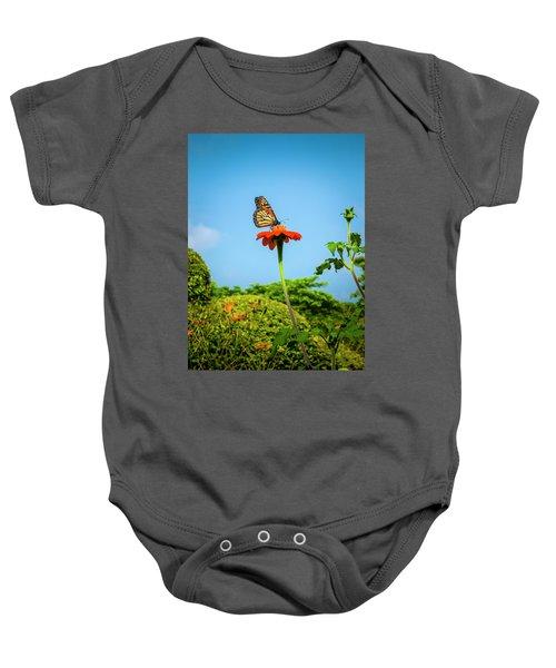 Butterfly Perch Baby Onesie