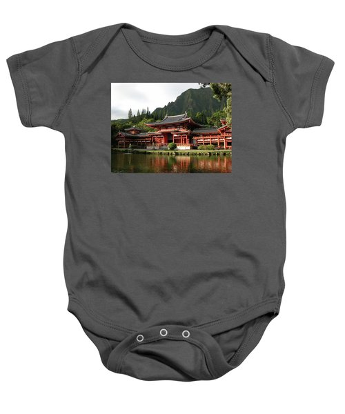Baby Onesie featuring the photograph Byodo-in Temple, Oahu, Hawaii by Mark Czerniec