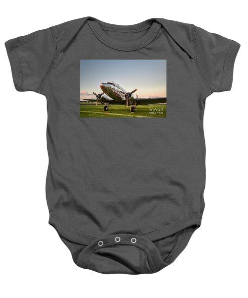 C-47 At Dusk Baby Onesie