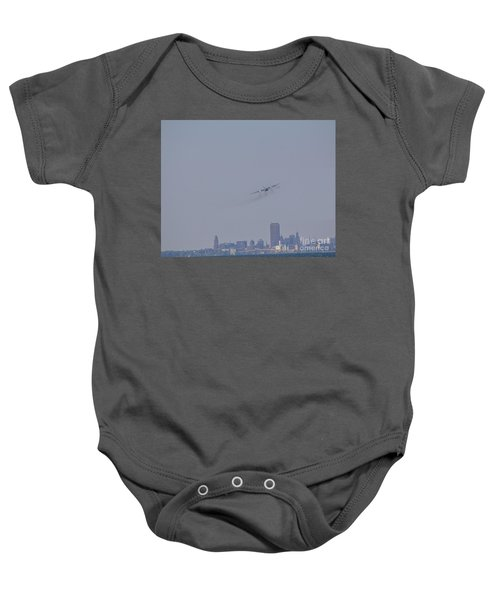 C130 Over Buffalo Baby Onesie