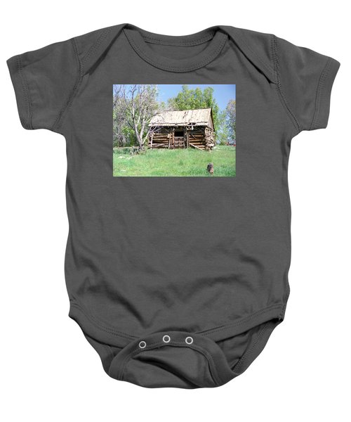 Cabin In The Mountains Baby Onesie