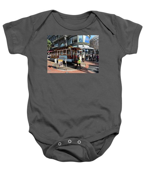 Cable Car At Union Square Baby Onesie