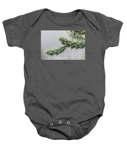 Cactus Branch With Wet White Long Needles Baby Onesie