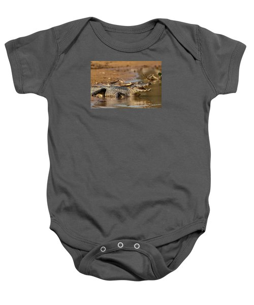 Caiman With Open Mouth Baby Onesie