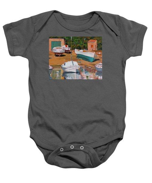 Cala Figuera Boatyard - II Baby Onesie