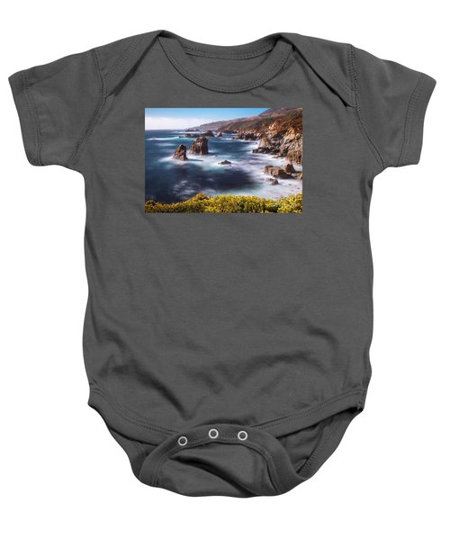 Baby Onesie featuring the photograph California Coastline  by Vincent Bonafede