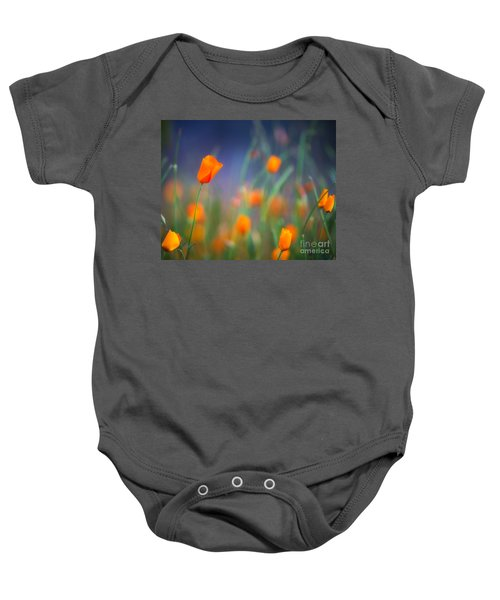 California Poppies 2 Baby Onesie
