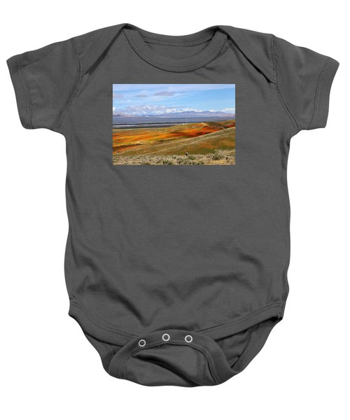 California Poppy Reserve Baby Onesie