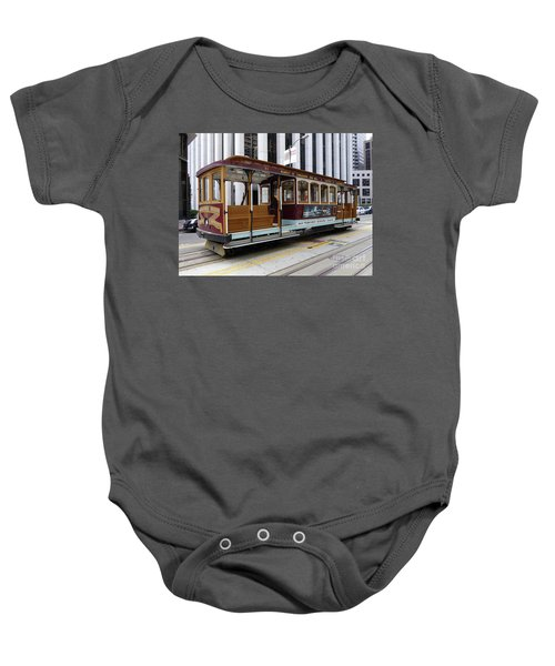 California Street Cable Car Baby Onesie