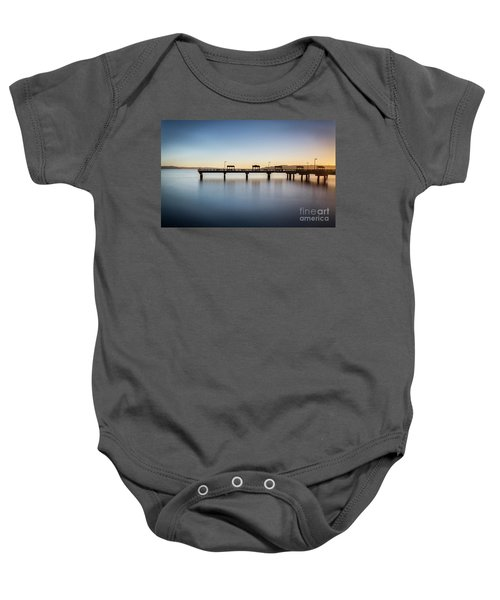Calm Morning At The Pier Baby Onesie