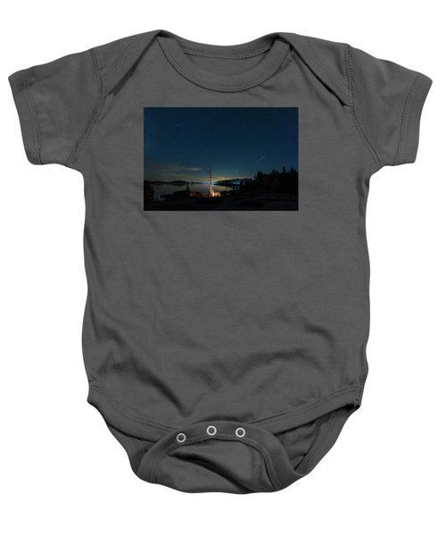 Baby Onesie featuring the photograph Campfire 1 by Jim Thompson