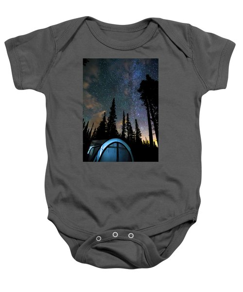 Baby Onesie featuring the photograph Camping Star Light Star Bright by James BO Insogna