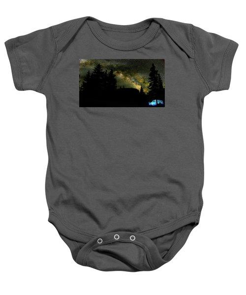 Camping Under The Milky Way 2 Baby Onesie