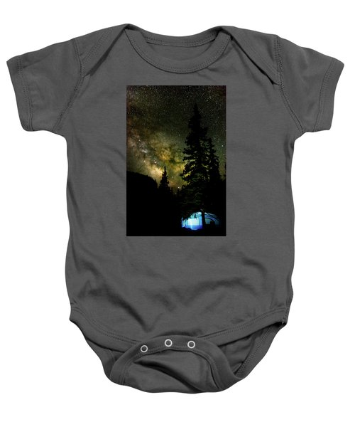 Camping Under The Milky Way Baby Onesie