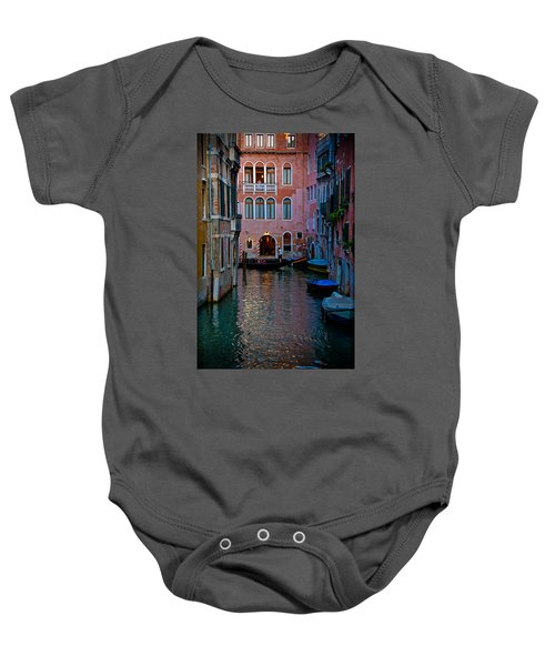 Canal At Dusk Baby Onesie