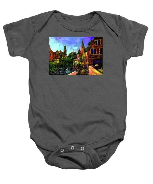 Canal In Bruges Baby Onesie