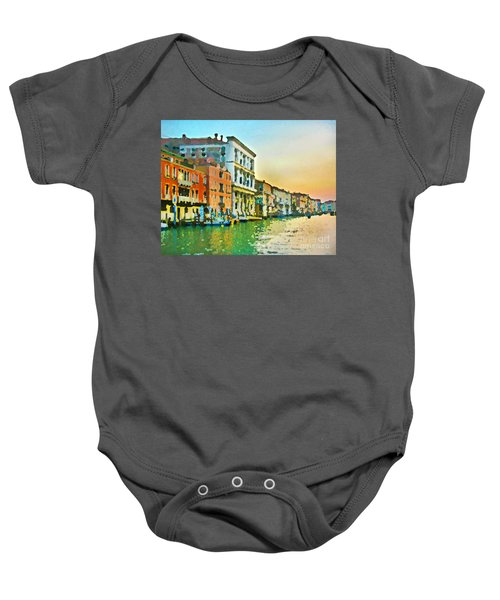 Canal Sunset - Venice Baby Onesie