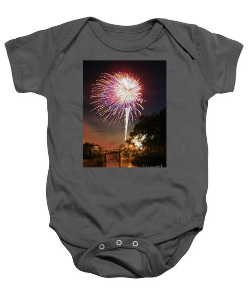 Canal View Of Fire Works Baby Onesie