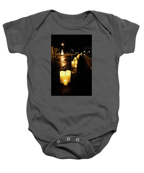 Candles On The Beach Baby Onesie