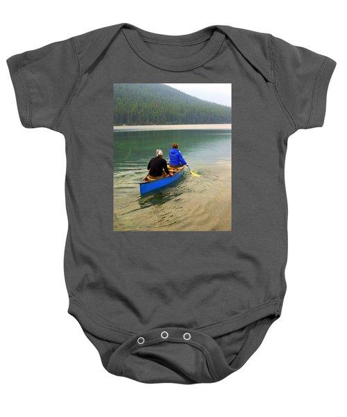 Canoeing Glacier Park Baby Onesie