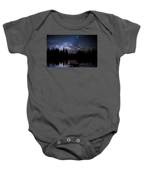 Canoeing - Milky Way - Night Scene Baby Onesie