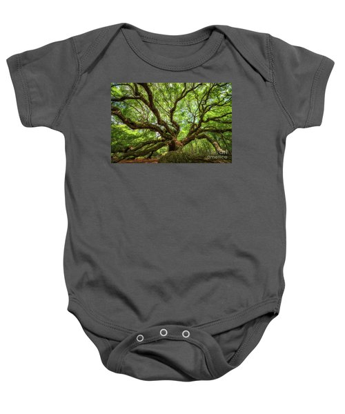 Canopy Of Color At Angel Oak Tree  Baby Onesie