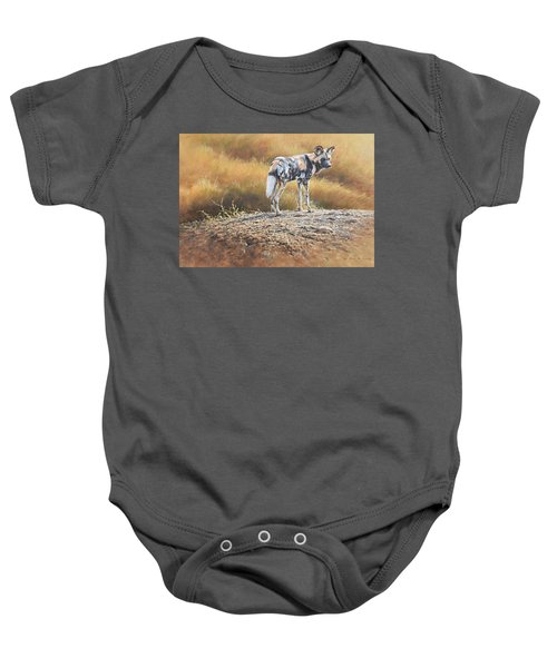 Cape Hunting Dog Baby Onesie