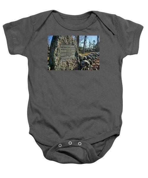 Captain John Locke Monument  Baby Onesie