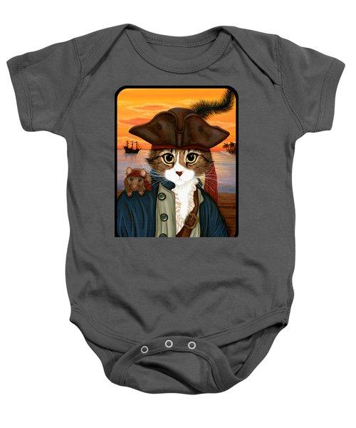 Captain Leo - Pirate Cat And Rat Baby Onesie