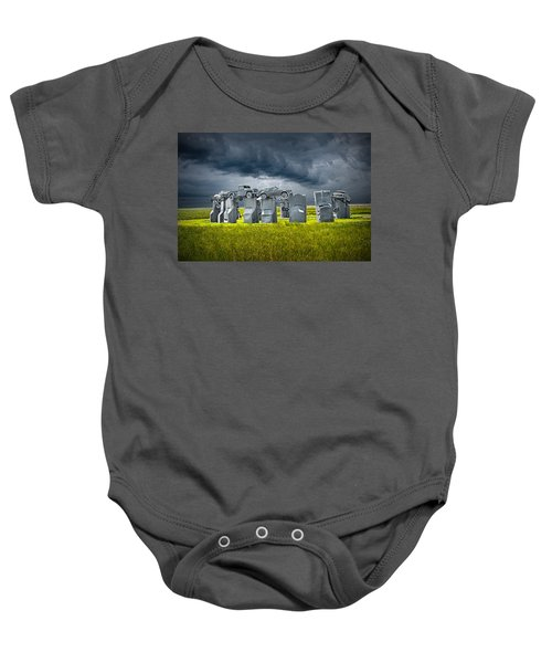 Car Henge In Alliance Nebraska After England's Stonehenge Baby Onesie