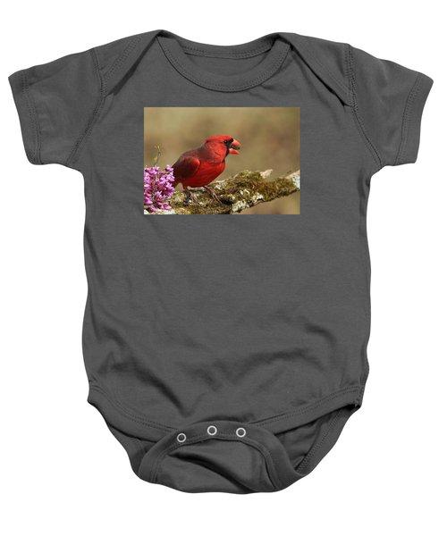 Cardinal In Spring Baby Onesie
