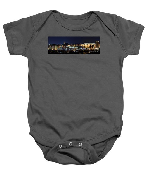 Carrier Dome And Syracuse Skyline Panoramic View Baby Onesie