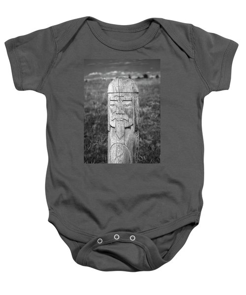 Baby Onesie featuring the photograph Carved Genghis Khan, Elsen Tasarkhai, 2016 by Hitendra SINKAR