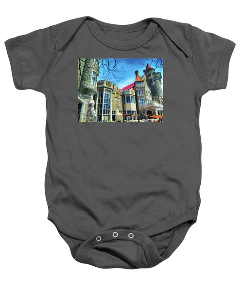 Casa Loma Castle In Toronto 2by1 Baby Onesie