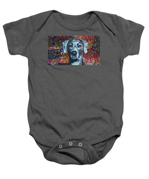 Cash The Blue Lacy Dog Baby Onesie