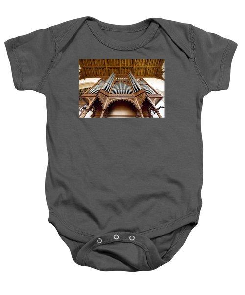 Castle Ashby Pipe Organ Baby Onesie
